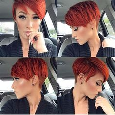 Today we have the most stylish 86 Cute Short Pixie Haircuts. We claim that you have never seen such elegant and eye-catching short hairstyles before. Pixie haircut, of course, offers a lot of options for the hair of the ladies'… Continue Reading → Cool Short Hairstyles, Short Pixie Haircuts, Hairstyles With Bangs, Red Pixie Haircut, Red Bob Hair, Pixie Bangs, Wedding Hairstyles, Gorgeous Hairstyles, Hairstyles 2018