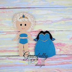 Abi Dress up Doll - Embroidery Design 5x7 hoop or larger