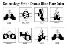 naruto hand signs fire style fireball jutsu - Google Search