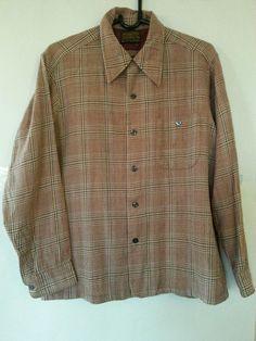 Sir Pendleton Large Button Front Long Sleeve Loop Hole 100% Virgin Wool #Pendleton #ButtonFront