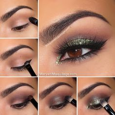 """! Maryam Maquillage !: """"Glam Green Glitter"""" Holiday Makeup"""