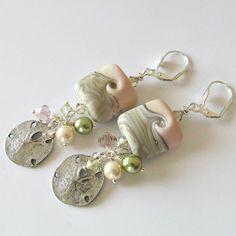 Handmade Beaded Jewelry And Lampwork Jewelry Designs - Pacificjewelrydesigns.com - Lampwork beaded earrings Sunny Beaches