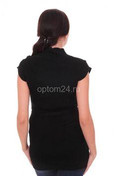 Туника женская черная СК 1414 Размеры: 46 Цена: 400 руб.  http://optom24.ru/tunika-zhenskaya-chernaya-sk-1414/  #одежда #женщинам #туники #оптом24