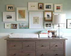 Woodlawn blue.  Gallery wall
