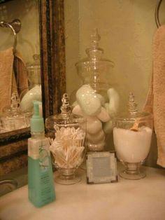 Bathroom counter in guest room