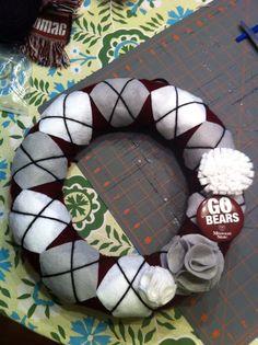 Missouri State University yarn wreath