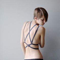 6eec4ca81bc14 Intersect Elastic Harness - Bluestockings Boutique - 2 Lingerie Sleepwear
