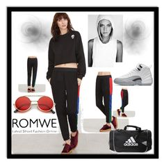 """ROMWE"" by melisacamdzic ❤ liked on Polyvore featuring ZeroUV and adidas"