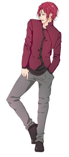 Rin Matsuoka Que lindooo Free! Hot Anime Boy, Anime Guys, Manga Anime, Rin Matsuoka, Splash Free, Free Eternal Summer, Free Iwatobi Swim Club, Shall We Date, Free Anime