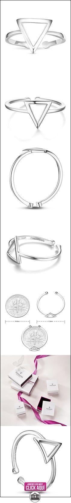 Tinysand anillos mujer con triangulo 925 plata de ley  ✿ Joyas para mujer - Las mejores ofertas ✿ ▬► Ver oferta: https://comprar.io/goto/B01912B1BE