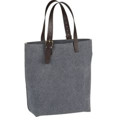 Canvas Denim Washed Tote... from Crate and Barrel??