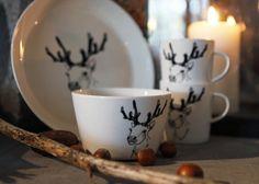 Beautiful but simple reindeer print.
