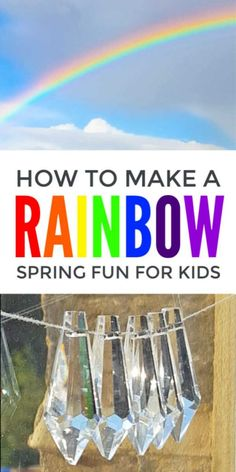 A lovely spring activity for kids to explore the colors of the rainbow - simple enough for early years, preschoolers, infants and ks1 but with enough cool science about light waves to challenge middle school children and seniors #spring #springactivities #springcrafts #springcraftsforkids #eyfs #earlyyears #rainbow #rainbowcrafts #scienceforkids #STEAM #stem