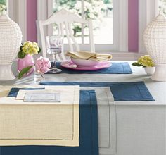 Sferra Table Linens, Available at Dolce Dimora