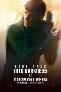 Zachary Quinto - Poster Love the 1st Star Trek movie, can't wait to watch Into Darkness.
