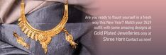 Are you ready to flaunt yourself in a fresh way this New Year? Match your outfit with some amazing designs at gold plated jewelleries only at Shree Hari! Contact us now! Jewelry Sites, Gold Plated Necklace, Necklace Designs, Jewelry Collection, Crochet Necklace, Fresh, Amazing, How To Wear, Stuff To Buy