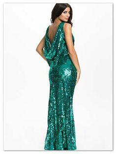 de lange grønne maxi kjoler er perfekte til nytåret | le-reve.dk