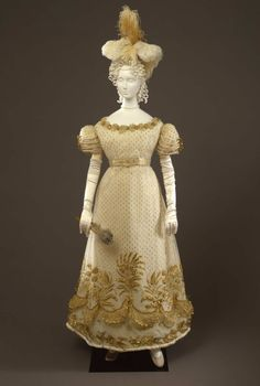 Fripperies and Fobs  Court dress, 1824  From the Galleria del Costume di Palazzo Pitti via Europeana Fashion