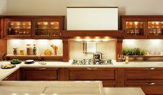 Cherry wood fitted kitchen CERTOSA by Snaidero | design SNAIDERO DESIGN