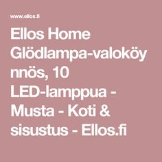Ellos Home Glödlampa-valoköynnös, 10 LED-lamppua - Musta - Koti & sisustus - Ellos.fi
