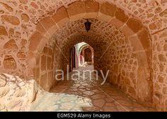 Inside St. Catherine's monastery, Sinai, Egypt. St Catherine's monastery, Sinai Peninsula, lies at the foot of  Mount Sinai Stock Photo