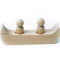 This is a simple canoe shape that will hold 2x 6cm Boy Peg Dolls The canoe is made out of unfinished wood and you may have to do a little extra sanding here and there before you paint them. The canoe is made out of pine. It measures approximately 7.1 cm (6-3/4 inches) long by …