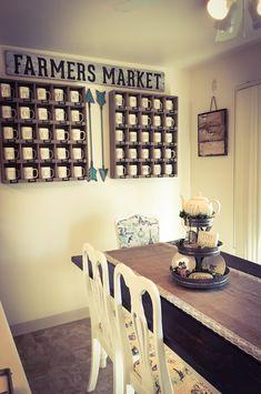 Coffee Mug Display On Counter