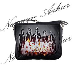 "Asking Alexandria 14"" Messenger Bag Shoulder School Laptop NoteBook Backpack 05"