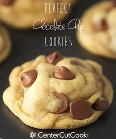 Perfect Chocolate Chip Cookies Recipe ~ the best chocolate chip cookies ever...  Super thick, ultra soft, delicious!