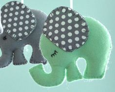 Menthe verte Mobile éléphant éléphant de ballon à par FlossyTots