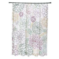 Latitude Run Velasquez Shower Curtain Color: Purple