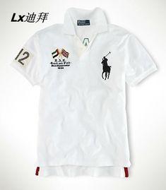 aabba03f1da Ralph Lauren Men s Custom Crossed-Flags Big Pony in White