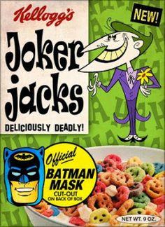 Kellogg's Joker Jacks cereal I ate a lotta these. Vintage Advertisements, Vintage Ads, Vintage Food, Retro Food, Retro Ads, Vintage Images, Cereal Packaging, Retro Packaging, Food Packaging