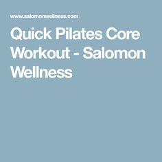 Quick Pilates Core Workout - Salomon Wellness