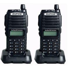 2pcs BaoFeng UV-82 Dual-Band 136-174/400-520 MHz FM Ham Two-way Radio station, Amateur Walkie Talkie Transceiver, BF-UV82 Review Two Way Radio, Walkie Talkie, Talk To Me, Ham, Hams