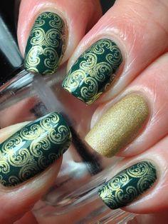 Elegant stamping nail art