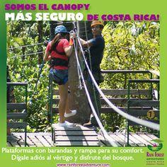 SOMOS EL CANOPY MAS SEGURO! RAINFOREST ADVENTURES COSTA RICA!