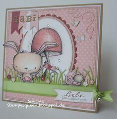 Simone Schwagler - Pink  Poppy, Toadstool & Tucker Card