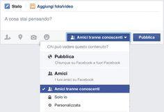 Cosa vedono i conoscenti su Facebook?