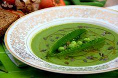 hráškovo špenátová polévka