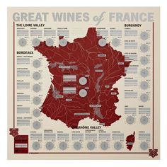 French Wine Tasting Poster See where the wine comes from, while rating the wine.