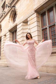 Beaded Crystals Tulle Floor Length Full Long Sleeves Party Dress vestido de  fiesta 4a1b9c325e76