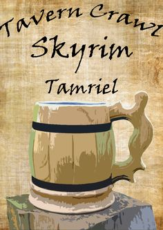 Excited to share the latest addition to my #etsy shop: Skyrim Tavern Crawl ~ Custom Letter, Posters and Itinerary