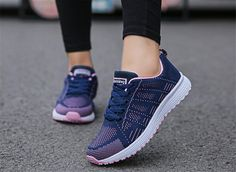New women shoes breathable mesh flat heels shoes ladies shoes lace-up white sneakers women flats tenis feminino fast delivery Outfit Accessories From Touchy Style. Tenis Casual, Casual Sneakers, Sneakers Fashion, Fashion Shoes, White Sneakers, Cheap Fashion, Md Fashion, Fashion Women, Comfortable Sneakers
