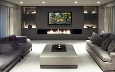 80 Ideas For Contemporary Living Room Designs - 2018 25 Best Modern Living Room Designs House Design, House, Contemporary Living Room, Trendy Living Rooms, House Interior, Interior Design, Home And Living, Living Room Designs, Living Room Tv