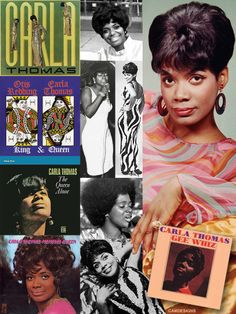 """Carla Venita Thomas (born Dec. 21, 1942) is an American singer who is often referred to as the Queen of Memphis Soul. She is the daughter of Rufus Thomas. She is best known for the work she completed for both Atlantic Records and most notably, Stax Records in the 1960s. She wrote her biggest hit, """"Gee Whiz (Look at His Eyes)"""" when she was just 15 years old. Her fourth LP of duets with Otis Redding, King & Queen, was Redding's final studio album before his death in 1967."""