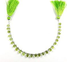 Fine1 Strand Natural Peridot Drop Shape 4x6-5x7mm Faceted Gemstone Beads 7""