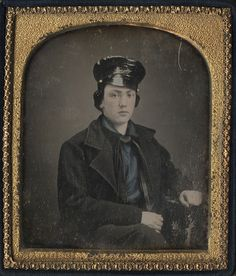 Daguerreotype of a Young Man in a Blue Shirt - Maybe a Sailor