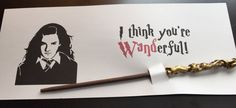 Harry Potter Valentine with Wands Harry Potter Wand Party Favors