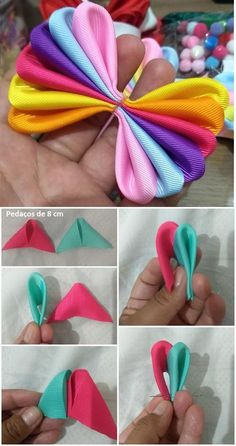 Best Picture For DIY Hair Accessories for women For Your Taste You are looking for something, and it is going to tell you exactly what you are looking for, and you didn't find that picture. Fabric Hair Bows, Ribbon Hair Bows, Diy Hair Bows, Diy Ribbon, Ribbon Crafts, Fabric Flowers, Flower Hair Bows, Diy Crafts, Ribbon Flower Tutorial